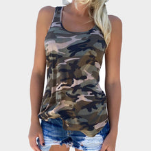 Load image into Gallery viewer, Women's Camouflage Print Racer Back Tank