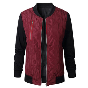 Women's Long Sleeve Color Block Cotton-padded Jacket