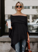 Load image into Gallery viewer, Women's Off Shoulder Irregular Loose Fit Tee