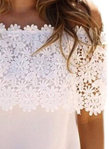 Women's Fashion Off Shoulder Lace Tee