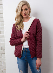 Women Winter plus velvet lamb hooded Coats