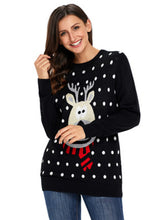 Load image into Gallery viewer, New Fashion Round Neck Long Sleeve Women Christmas Sweater