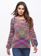 Load image into Gallery viewer, Women's Cashmere Sweater Round Neck Colorful Loose Knitted Sweater