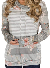 Load image into Gallery viewer, Women's Floral Long Pullover Hoodie with Pocket