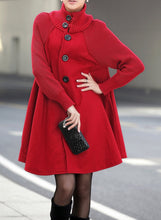 Load image into Gallery viewer, Long Female Cloak Windbreaker Loose Winter Wool Outerwear Coat
