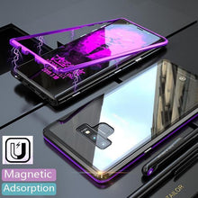 Load image into Gallery viewer, Transparent Tempered Glass Magnetic Adsorption Phone Case for Samsung Note 9