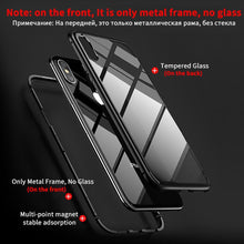 Load image into Gallery viewer, Transparent Tempered Glass Magnetic Adsorption Phone Case for iPhone XS Max XR XS X 8 Plus 7 Plus 8 7 6s Plus 6 Plus