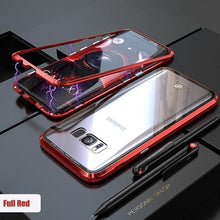 Load image into Gallery viewer, Transparent Tempered Glass Magnetic Adsorption Phone Case for Samsung S8 S8Plus