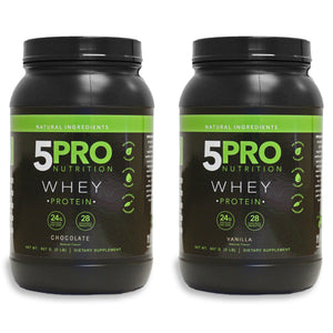 5PRO NATURAL WHEY 2PACK (1 CHOCOLATE & 1 VANILLA)