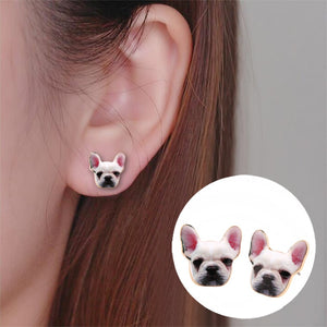 Dog Head Earring