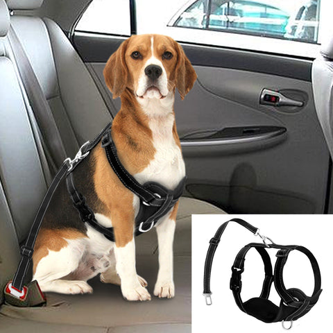 Image of Dog Harness With Safety Car Seat Strap