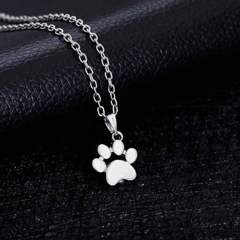 Image of Dogs Footprints Necklace