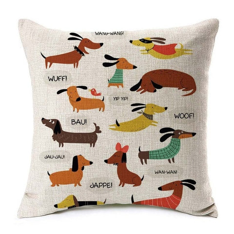 Cushion Covers Sausage Dog