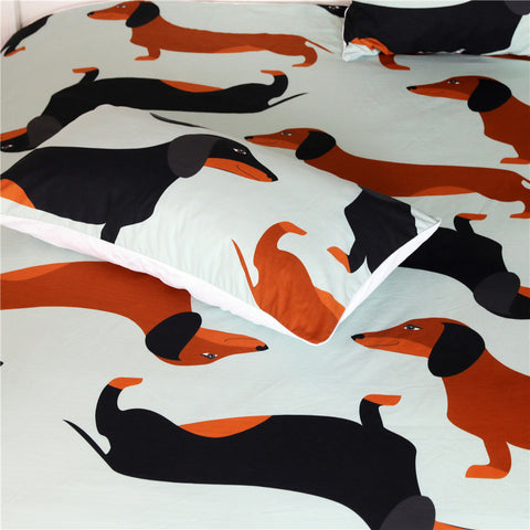 Image of Cute Dachshund Sausage Bedding Set