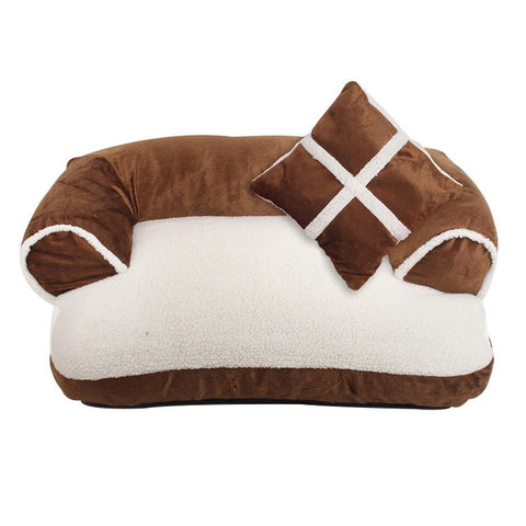 Image of Luxury Pet Dog Sofa Beds With Pillow Detachable
