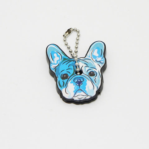 Cute Silicone French Bulldog Dog Key Cover