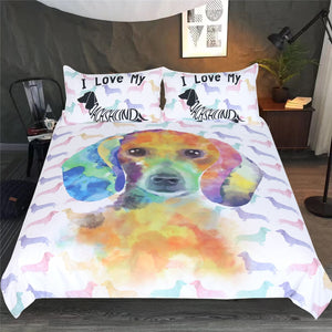 Watercolor Pet Dog Bedding Set