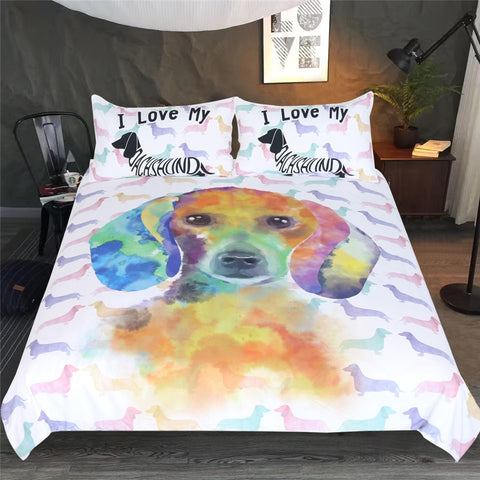 Image of Watercolor Pet Dog Bedding Set