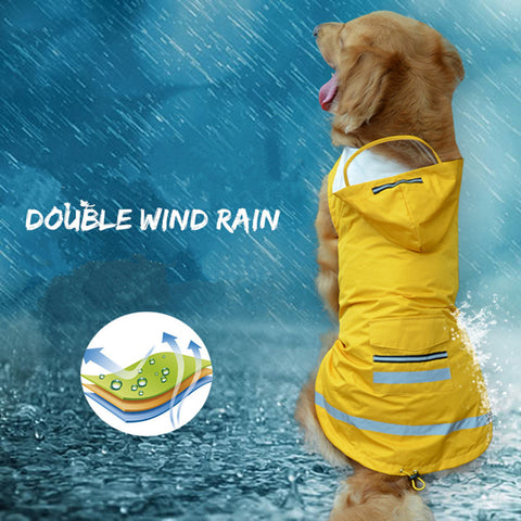 Image of New reflective pet raincoat