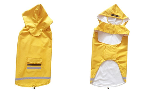 New reflective pet raincoat