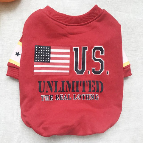 Image of USA Flag Dog Clothes