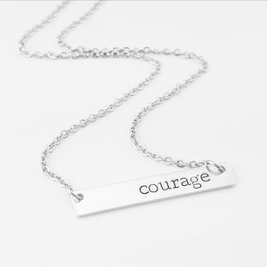 Courage Bar Necklace