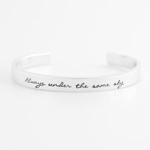 Always Under the Same Sky Cuff Bracelet
