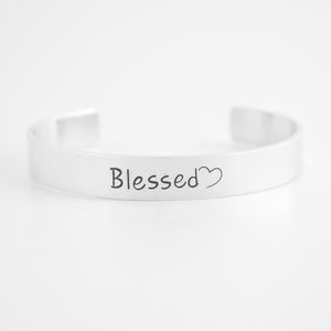 Blessed Cuff Bracelet with Heart