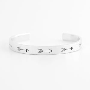Continuous Arrows Cuff Bracelet
