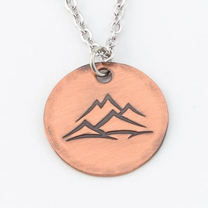 Copper Mountain Peaks Necklace