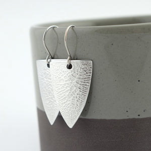 Cracked Paint Textured Spear Drop Earrings