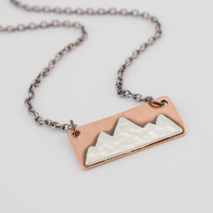 Mixed Metal Mountains Necklace #1