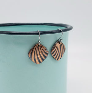 Deco Arches Copper Earrings - Vintage Modern Collection