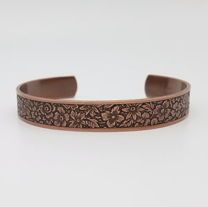 LIMITED EDITION Flower Garden Copper Cuff Bracelet - Vintage Modern Collection