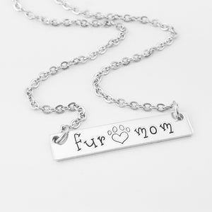 Fur Mom Bar Necklace