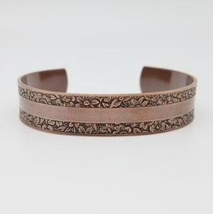 LIMITED EDITION Garden Stripe Copper Cuff Bracelet - Vintage Modern Collection