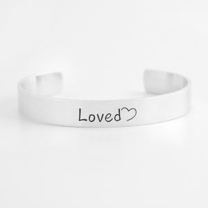 Loved Cuff Bracelet with Heart