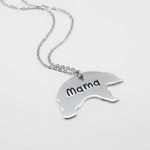 Mama Bear Shaped Necklace