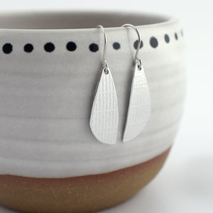 Textured Lines Asymmetric Teardrop Earrings