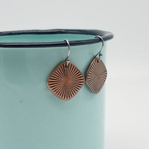 Rays of Light Copper Earrings - Vintage Modern Collection