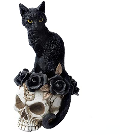 Alchemy Gothic Cat and Skull Ornament