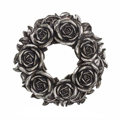 Alchemy Gothic Black Rose Wreath / Candle Ring