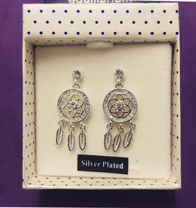 Equilibrium Dreamcatcher Flower Earrings