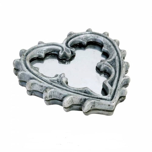 Alchemy Gothic Heart Compact Hand Mirror - Wrongly Boxed