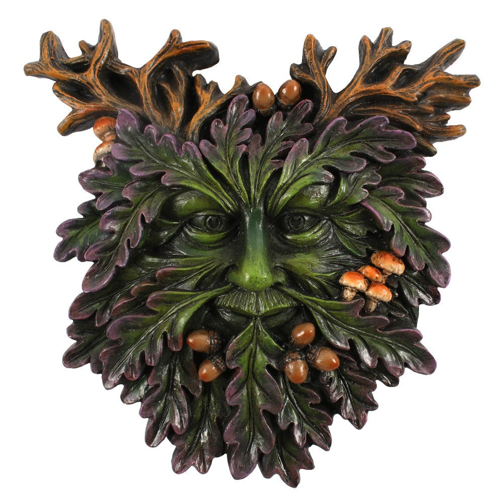 Small Green Man Face Plaque