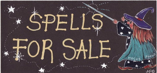 Spells For Sale Sign