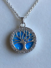 Load image into Gallery viewer, Equilibrium Tree Of Life Necklace Turquoise