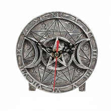 Load image into Gallery viewer, Wiccan Triple Moon Desk Clock