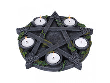 Load image into Gallery viewer, Wiccan Pentagram Tealight Holder