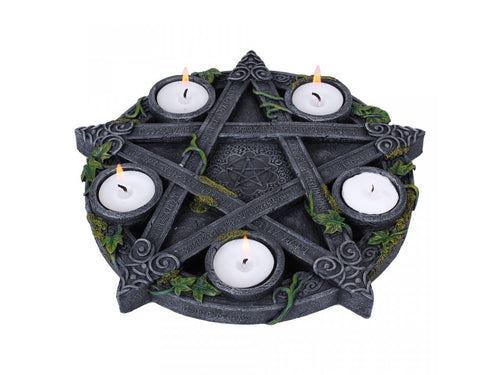 Wiccan Pentagram Tealight Holder
